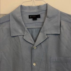 Cremieux blue casual. Linen and silk.
